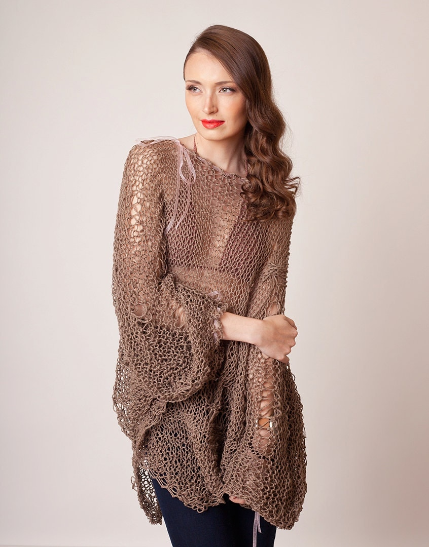 boutique brown knit sweaters oversized V neck pullover New slim side open fashion sweaters Most of our dresses are made of cotton linen fabric, soft and breathy. loose dresses .