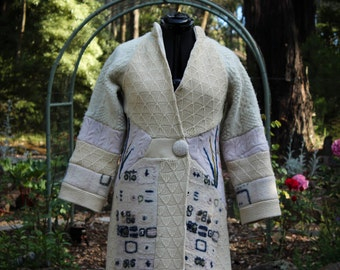Up-cycled  Woollen Sweater Coat.