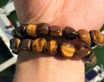 Tigers Eye Bracelet infused w/ Reiki, Healing Tiger Eye Jewelry