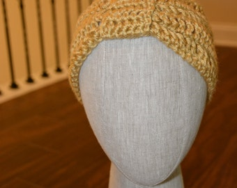 Classic Knotted Crochet Tan Headband
