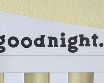 goodnight. decal