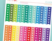 Planner Stickers for use with Erin Condren, Agenda Stickers, Checklist Stickers, Planner Heart List Page Flag Stickers