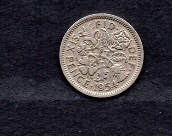 Great Britain. 1954.Elizabeth 11.Sixpence