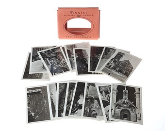 vintage pack of ASSISI - Italy - BLaCK and WHiTe souvenirs PHoToGRaPHS - mini postcards