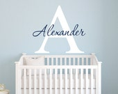 Personalized Name Wall Decal - Boys Name Wall Decal - Nursery Wall Decal - Kids Wall Decal