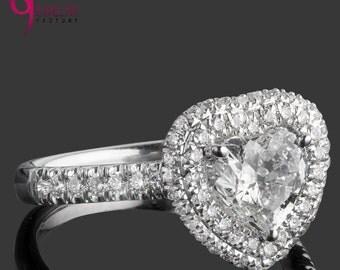 Heart diamond ring Etsy