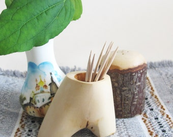 Wooden Toothpicks Holder, Rustic Wood Toothpicks Holder, Country Home Decor, Mom gift
