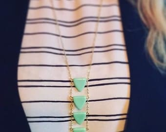 READY TO SHIP - Triangle Ladder Necklace