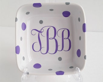Monogram Ring Holder - Custom Ring Dish - Ring Holder