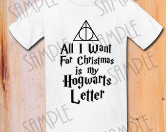 All i want for christmas is my hogwarts letter   Etsy