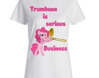 Women's Trombone is Serious Business T-shirt, Trombone T-Shirt for Women, Trombone Tee, Women's Graphic Tee, Graphic T-Shirt