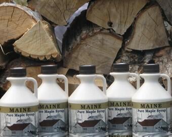 Maine Maple Syrup Bundle #7, Grade A Amber Color, Rich Flavor