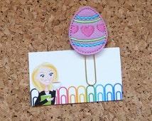 Planner Clip   Spring EGG Planner Accessory    Bookmark   Paper Clip   Refrigerator Magnet   Cute Brooch Pin    PURPLE 511