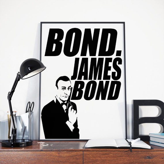 James Bond 007 Poster Instant Download Movie Print License