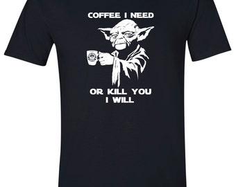 Funny Shirt, Yoda TShirt, Funny Tshirt, Geeky Tshirt, Funny Tee, Geek Yoda T Shirt, Geeky T Shirt, Funny T Shirt, Geeky Shirt, Yoda Coffee