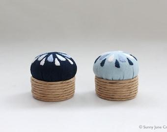 Embroidered mini pincushion