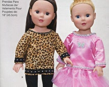"""Free Us Ship Simplicity 1274 Out of Print 18"""" Doll Clothes Wardrobe New Sewing Pattern Fits American Girl Size"""