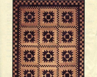 Free Usa Shipping Primitive Gatherings Quilt Union 2 Step 2006 Craft Sewing Pattern New FF Out of Print
