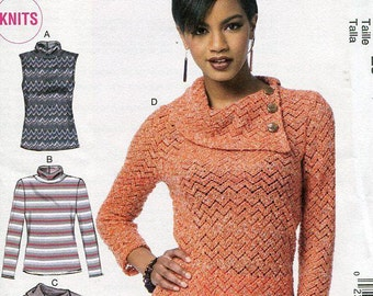 FREE US SHIP McCall's 6796 Knits Easy Sweater Top Size 14-22 Bust 36 38 40 42 44 New Sewing Pattern Factory Folded Unused Out of Print