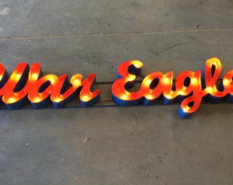 Auburn War Eagle Marquee Metal Sign
