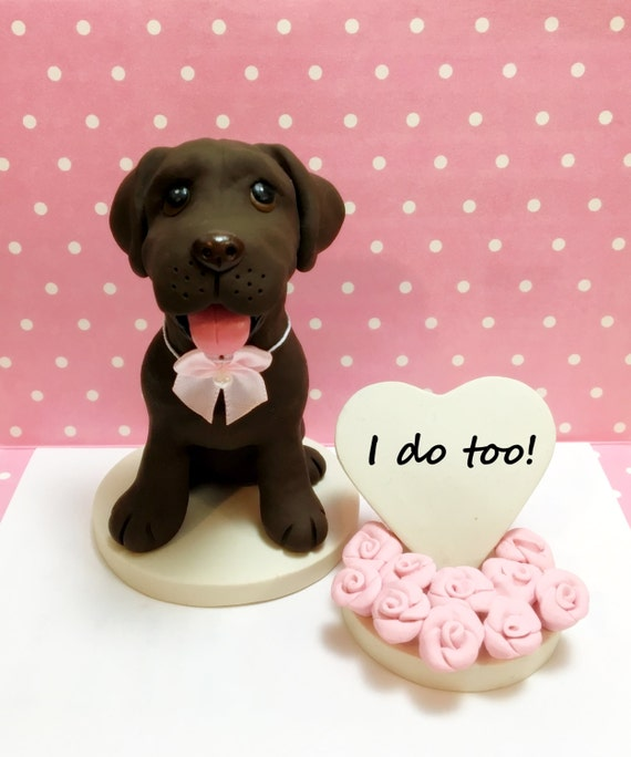 Chocolate Labrador Cake Topper