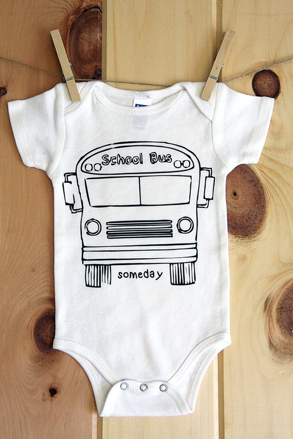 "School Bus ""Someday"" onesie"