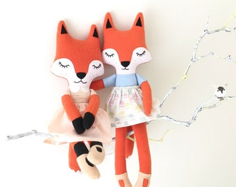 Sleepy fox rag doll (Free shipping within the UK)