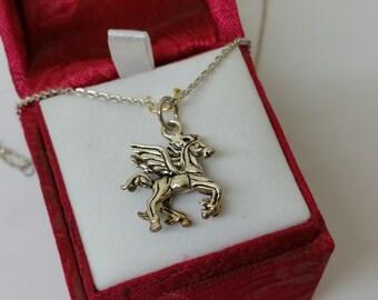 Pendant silver Pegasus horse 835 silver SK931