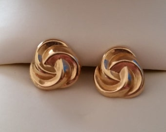 Vintage 14k Yellow Gold Knot Earrings