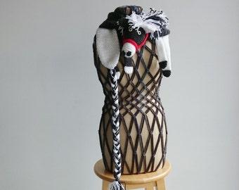 Crochet Animal Scarf, Crochet Pony Scarf, Novelty Scarf,