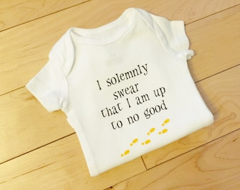 I Solemnly Swear that I'm Up to No Good Baby Bodysuit / Harry Potter Baby / Harry Potter Onesie / Unisex Baby Clothes