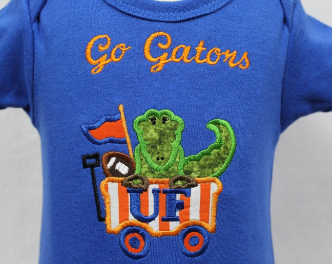 Baby Gator bodysuit, Baby boy Gator bodysuit,Personalized Gator bodysuit,UF Gator boy,University of Florida, Boys Gator Shirt,Florida Gators