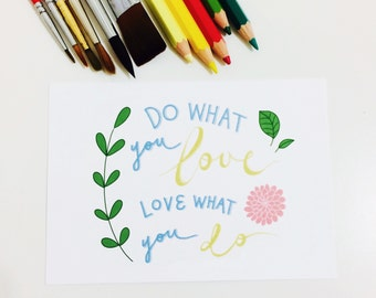 Do What You Love Postcard