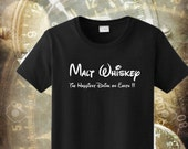 Malt Whiskey The Happiest Drank On Earth T-Shirt  5 Colors All Sizes S-3XL Cotton Tees  Funny Humor Tee Alcohol