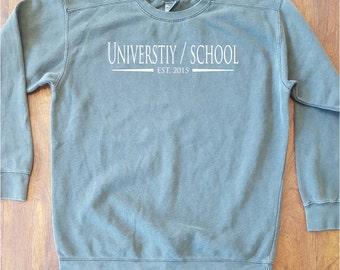 Customized School Comfort Colors Sweatshirt