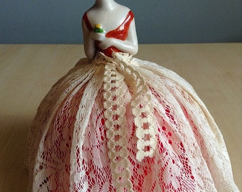 Roaring Twenties Porcelain Pin Cushion Doll