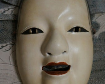Noh Mask named Manbi(Japanese traditional mask)