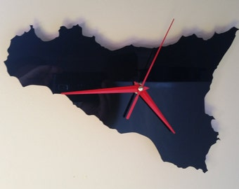 Sicily Silhouette clock