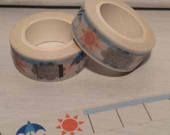 Weather Week Washi Tape