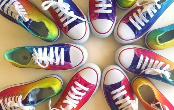Tie Die Converse Style Shoes