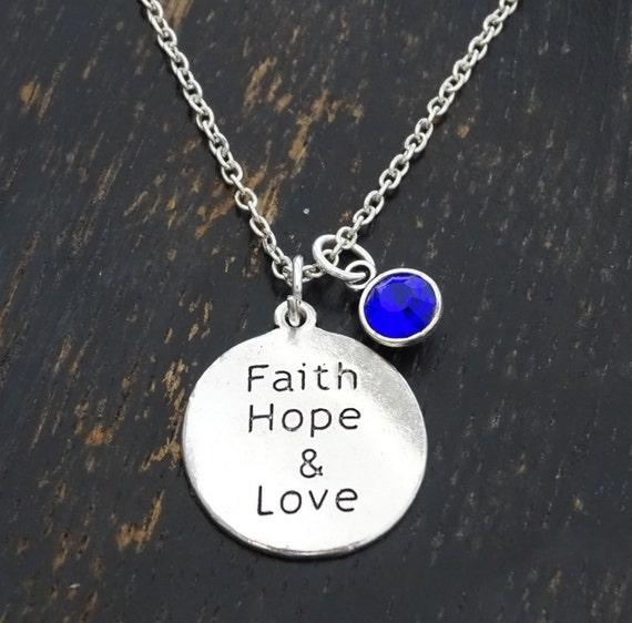 Faith hope love necklace faith hope love charm faith hope like this item aloadofball Choice Image