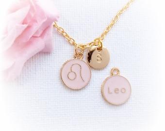 Leo Zodiac Sign Astrology Necklace, Leo necklace, star sign necklace,star sign necklace, July and August birthday / GFZSSNLEO1