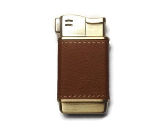 Brown Leather Cigar Lighter Custom Laser Engraved Lighter Cigarette Lighter Custom Lighter Wedding Gift Anniversary Gift Mens Pipe Lighter