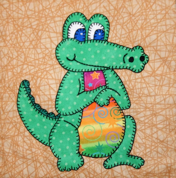 Crocodile Or Alligator Pdf Applique Pattern Australian Or Zoo