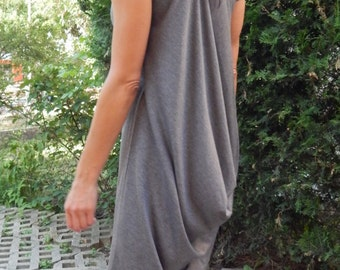 Short Sleeves Oversized Tunic/ Top/ Blouse/comfortable dress/ Hi-low Dress