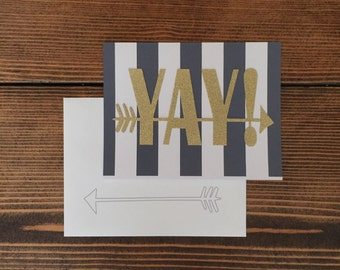 YAY! Greeting Card for Special Occasions   Congratulations   Happy Birthday
