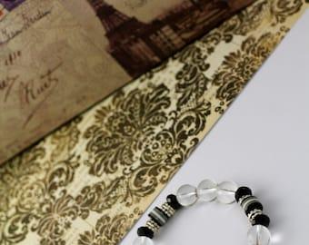 Cross Charm beaded bracelet