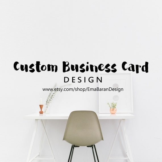 Custom business cards printable custom digital by for Order custom business cards