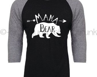 Mama Bear Shirt, Mama Bear, Mama Bear Top, Mama Bear Raglan, Family Outfits,Matching Outfits,Gifts for Mom, New Mom Shirt, New Mom Apparel