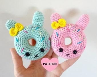 Bunny Donuts PDF Pattern, amigurumi, crochet